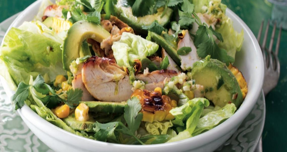 Kuřecí salát s avokádem