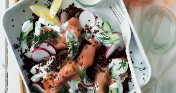 Rybí salát s quinoou