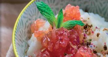 Kokosovo-rýžová kaše s červeným grepem