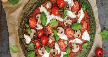 Pizza se špenátovým základem