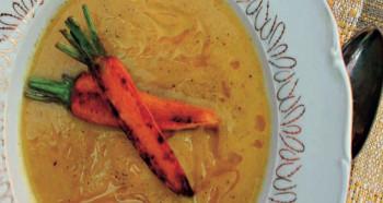 Cuketová krémová polévka s mrkví