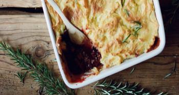 Čočkový shepherd's pie