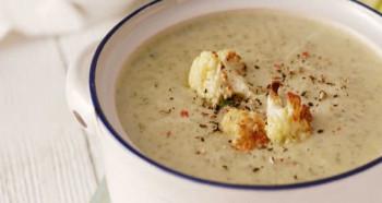 Koprová polévka s pečeným květákem